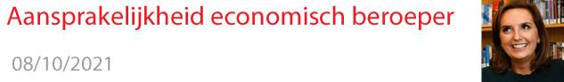 Aansprakelijkheid economisch beroeper